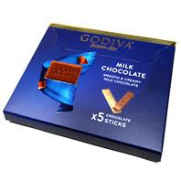ゴディバミルクチョコレート5本