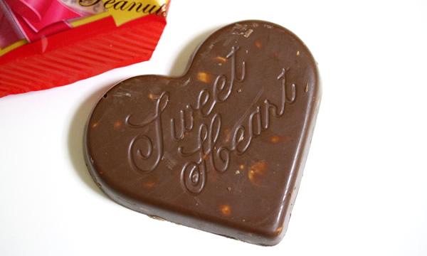 不二家 ハートチョコレートピーナッツ